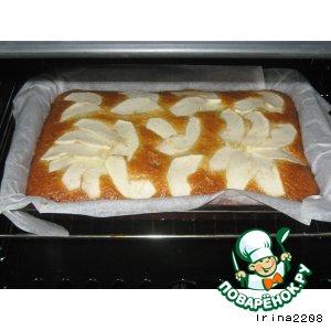 Рецепт Постная медовая коврижка с кокосом и яблоком