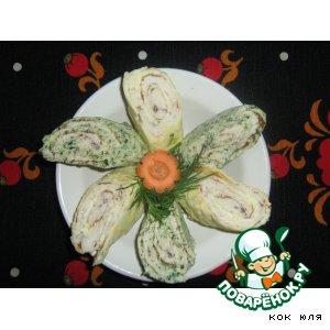 Рецепт Куриные рулетики со шпинатом и сыром
