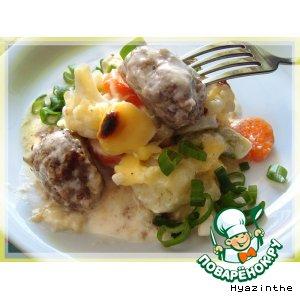 Рецепт Овощная запеканка под сырным соусом