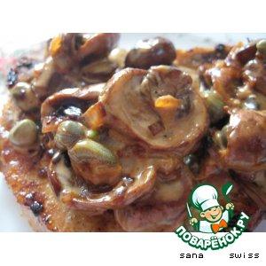 Рецепт Свинина   в   грибном   соусе   с   каперсами