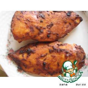 Рецепт Куриные   грудки, маринованные  в   йогурте