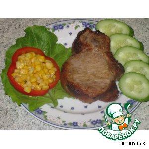 Рецепт Запеченное мяско «Быстрый сытный ужин»