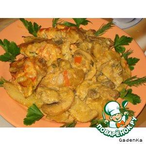 Посмотреть рецепт мясо с картошкой в духовке