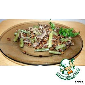 Рецепт Чечевица с фасолью и грибами