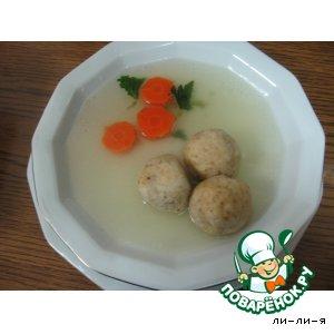 Как приготовить вкусный рецепт с фотографиями Куриный  бульeн  с  кнейдлах