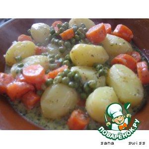 Рецепт Картофель   в   сырно - сливочном   соусе