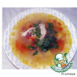 """Рецепт Молдавский суп """"Зама"""""""