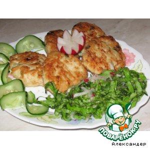 Рецепт: Куриные оладьи из магазинного фарша