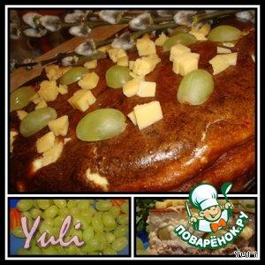 Рецепт Виноградный пирог с брынзой
