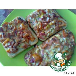 """Рецепт Горячие бутерброды """"Сытный завтрак"""""""