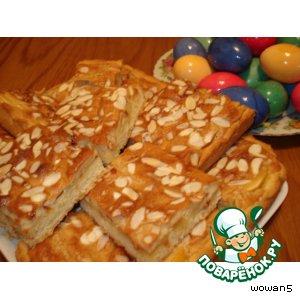 Рецепт Яблочный   пирог  с  марципановой   заливкой