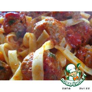 Рецепт Мясные   шарики   со   спагетти