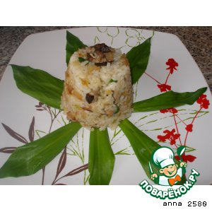 Рецепт Ризотто с белыми грибами и черемшой