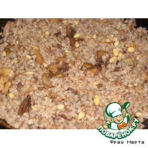 Рецепт Гречка с грибами и кедровыми орешками