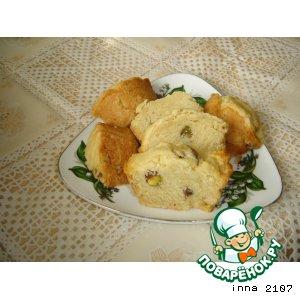 Рецепт Мини - кексы  на рассоле с фисташками