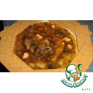 Рецепт Супчик фасолевый с копченой грудинкой