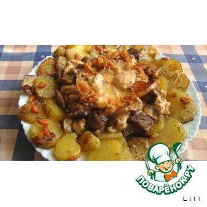 Рецепт Курочка в сливочно-пряном соусе с карамелькой