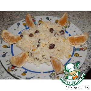 Рецепт Рисовая каша с мандарином и изюмом