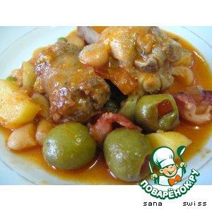 Рецепт Мясное   рагу   с   фасолью,   тыквой   и   оливками