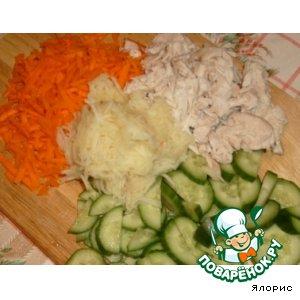 Салат с курицей и ананасом вкусный рецепт с фотографиями как готовить
