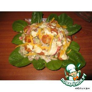 Рецепт Нежный салат из телятины с красным пецем