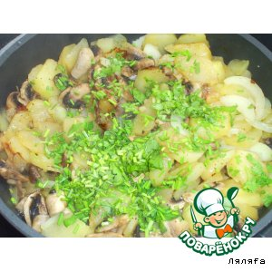 Рецепт Шампиньоны с картошкой