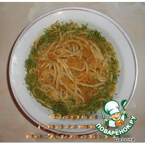 Спагетти по-китайски вкусный пошаговый рецепт с фото как приготовить
