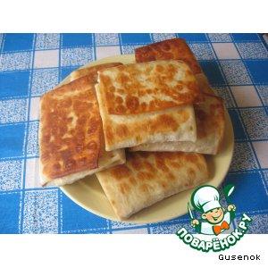 Рецепт Горячая мясная закуска в лаваше