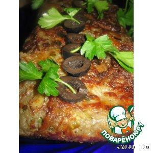 Рецепт Запеканка картофельная с грибами и капустой кольраби