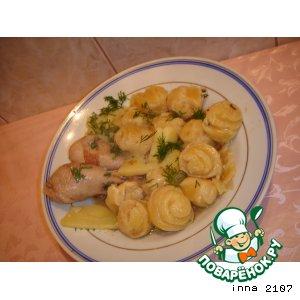 Рецепт Немецкий штрудель с курицей