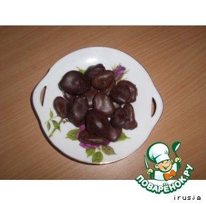 "Рецепт Конфеты ""Слива и абрикос в шоколаде"""