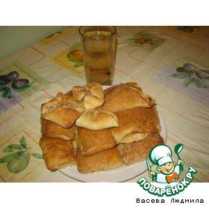Рецепт Слоeные пирожки с фруктами