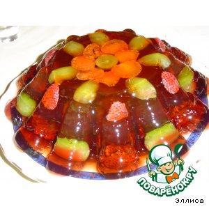 Рецепт Слоеный желейный тортик с ягодами