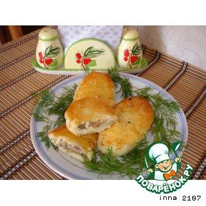 Рецепт Картофельные зразы с печенью и брынзой