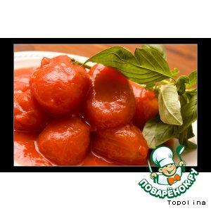 Рецепт Паста с соусом из помидоров черри и базилика