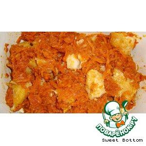Рецепт Рыбка под морковной шубкой