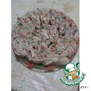 Как готовить Селедочный рулет из лаваша вкусный рецепт приготовления с фото пошагово