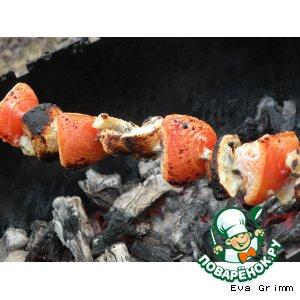 Рецепт Овощи и картошечка в соусе на огне