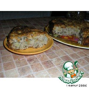 Рецепт Яблочный пирог с грецкими орехами