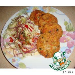 Рецепт Котлеты из крабовых палочек и консервированного тунца