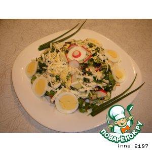 Рецепт Весенний салат из редиса со шпинатом