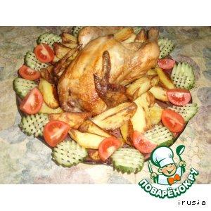Рецепт Курица,  запечeнная на банке