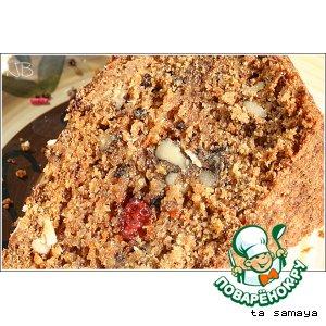 Рецепт Морковный кекс с грецкими орехами