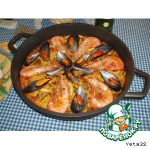 Рецепт Паэлья с морепродуктами (Paella de marisko)