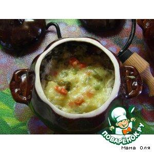 Рецепт: Куриные тефтельки с овощным ассорти в горшочке