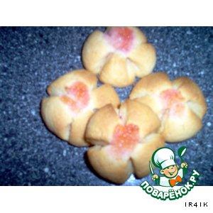 "Рецепт Печенье ""Желейные маргаритки"""