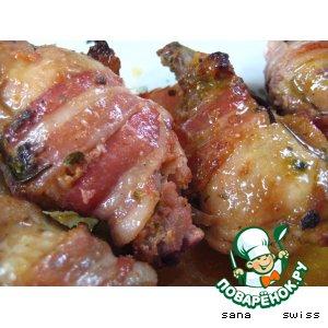 Рецепт Куриные   голени   с   розмарином,   запеченные   в    беконе