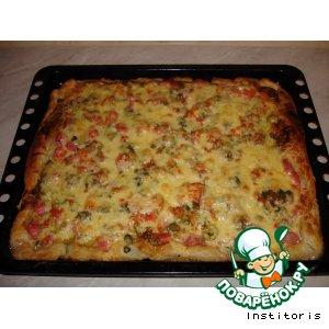 Пицца из колбасы и грибов рецепты