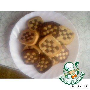 Рецепт Печенье шахматное