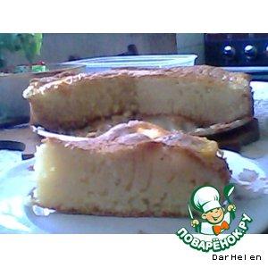 Рецепт Творожно-персиковый манник